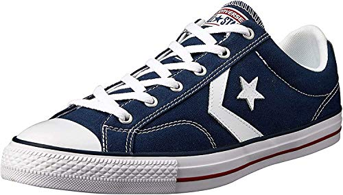 Converse Lifestyle Star Player Ev Ox, Zapatillas Unisex niño, Azul (Navy/White 410), 35 EU