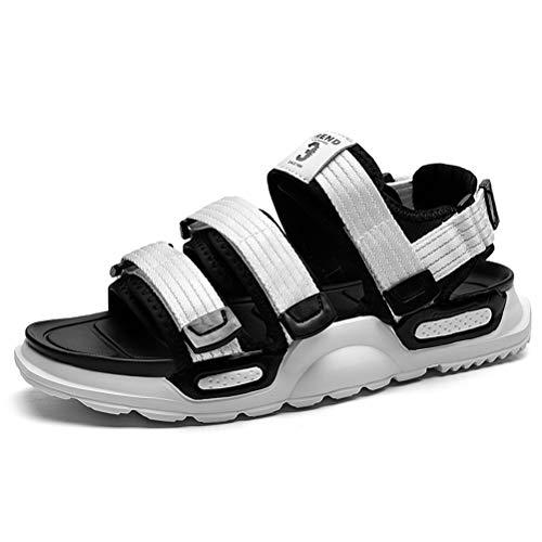 XIDISO Sandalias deportivas al aire libre para hombre, sandalias de trekking con cierre de velcro, zapatos al aire libre, zapatos casuales, sandalia transpirable para pescadores de agua para hombres