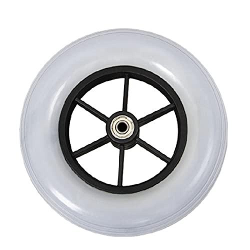 HAO Poliuretano De 8 Pulgadas, Resistente Al Desgaste, Un Neumático De Repuesto, Muy Adecuado para Su Instalación En Las Ruedas Pequeñas Delanteras (Color : Gray)