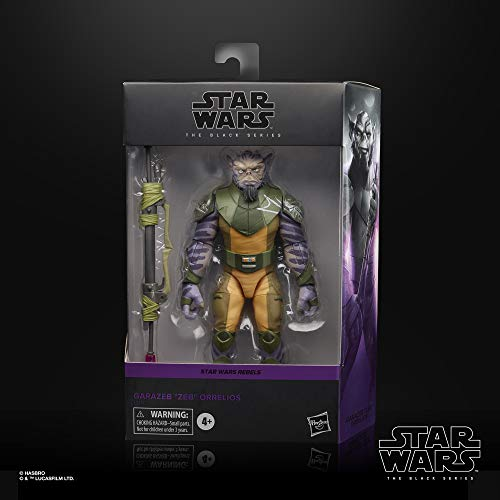 "Star Wars The Black Series Garazeb ""Zeb"" Orrelios Toy 6-Inch-Scale Rebels Collectible Deluxe Action Figure, Kids Ages 4 and Up"