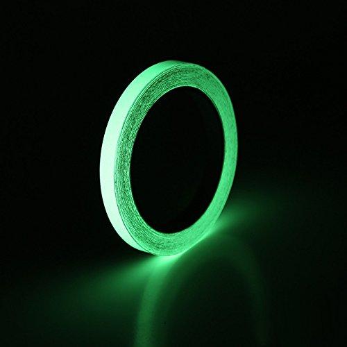Winbang Leuchtband, selbstklebendes Band Nachtsicht Glow in Dark Sicherheitswarnsicherheit Bühnendekoration Klebebänder, 15mm * 3m