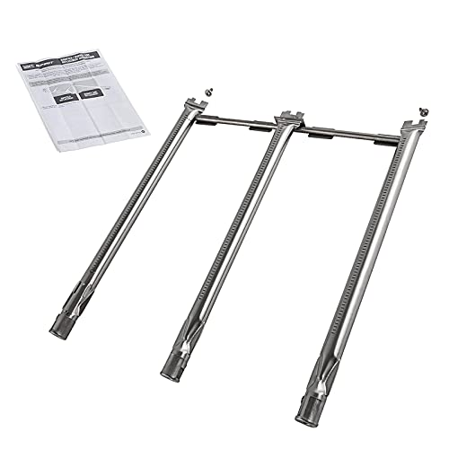WELL GRILL 45.7CM Burner Tubes Set for Weber Spirit 300 Series with Up-Front Buttons (2013-2017), Heavy Duty Stainless Steel Grill Replacement Parts for Weber 69787