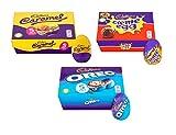 Cadbury Easter Egg Gift Pack, 5 Oreo, 5 Cream Egg & 5 Caramel (15 Eggs in Total)
