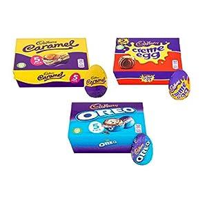 cadbury easter egg gift pack, 5 oreo, 5 creme egg & 5 caramel (15 eggs in total) Cadbury Easter Egg Gift Pack, 5 Oreo, 5 Creme Egg & 5 Caramel (15 Eggs in Total) 41OBKG9ZlBL