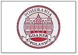 Kühlschrankmagnet, Motiv: Polen, grünes Torgebäude in Danzig Altstadt, Illustration