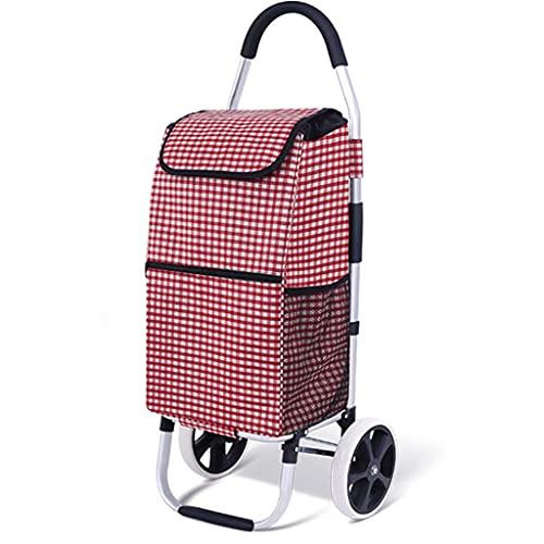 WYZXR Einkaufswagen, Faltbarer Einkaufswagen Treppensteigwagen mit wasserdichter Einkaufstasche, für Lebensmittelgeschäfte Leichter Treppensteigwagen Einkaufen