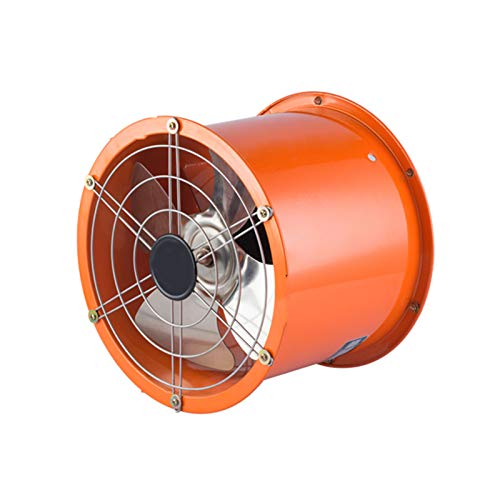 TWW Potente Extractor De Aire para El Hogar Cocina Campana Extractor De Conducto Cilindro Ventilador Extractor Industrial Extractor De Pared,A Orange 12