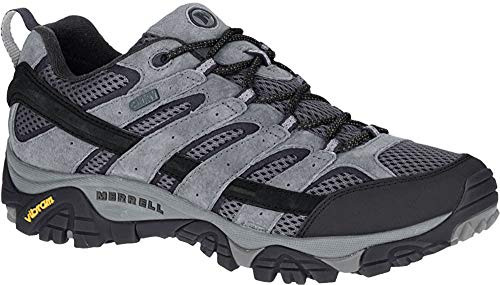 Merrell Men's Moab 2 Waterproof Hiking Shoe, Granite, 10.5 M...