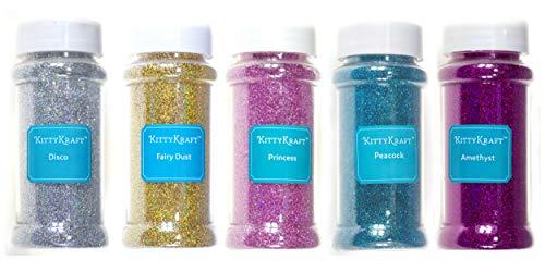 KittyKraft 5 Piece Extra Fine Glitter...