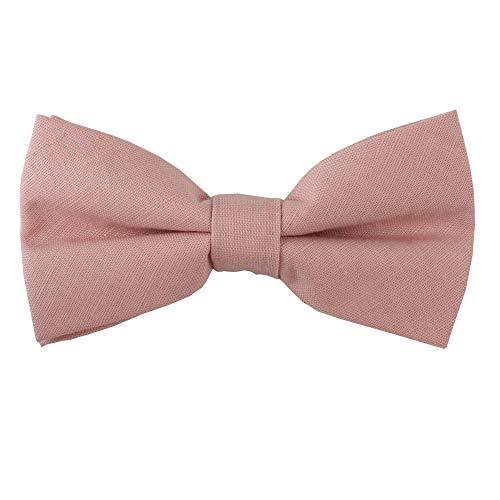AUSCUFFLINKS Herren Erröten rosa fliege leinen krawatten | hochzeitsbögen für trauzeugen (fliege, erröten pink)