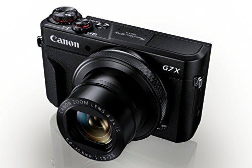 Canon PowerShot G7 X Mark II Digitalkamera (klappbares 7,5cm Display, 20,1 Megapixel, 4,2 fach optischer Zoom, Touchscreen, WLAN, F1.8-2.8 Objektiv, optischer Bildstabilisator, Full HD), schwarz