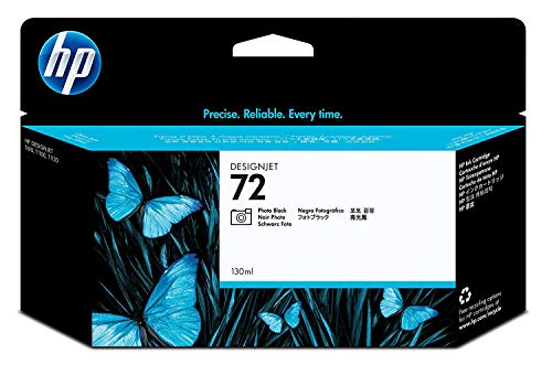 HP 72 Fotoschwarz Original Druckerpatrone mit hoher Reichweite (130 ml) für HP DesignJet