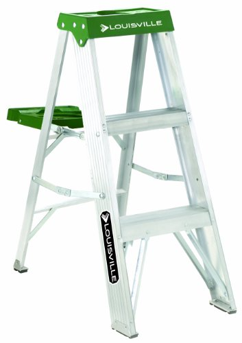 Louisville Ladder 3Foot Aluminum Step Ladder 225Pound Capacity AS4003