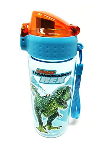 Borraccia per bambini a prova di perdite, leggera, in Tritan, anidride carbonica, senza BPA, 500 ml, per la scuola, l'asilo, lo sport (fantasia dinosauro)
