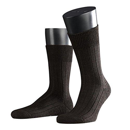 FALKE Herren Socken Teppich im Schuh 3er Pack, Größe:41/42;Farbe:dark brown melange