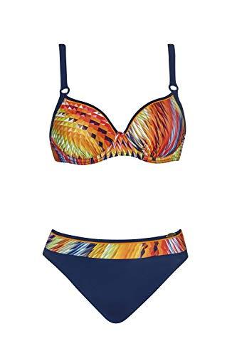 Sunflair Bikini \'Digital Rainbow\' mit Softcups und Formbügel, Größe:44D, Farbe:Nachtblau/Mulitcolor
