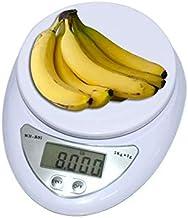 مقياس وزن رقمي للاطعمة بتصميم ال اي دي الكتروني مسطح، بقدرة حمل 5 كغم بدقة 1 غرام، يعمل لقياس الغرام والاونصة والباوند 500...