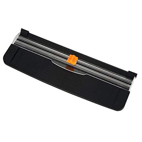 Guillotina de papel, portátil Recortador guillotina de papel Scrapbooking con protección de seguridad para el corte estándar de papel A3 A4 A5, fotos o etiquetas - Negro