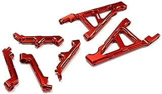 Integy RC Model Hop-ups BAJ345RED Billet Machined T3 Front & Rear Shock Support for HPI Baja 5B, 5T & 5SC