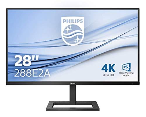 Philips 288E2A 71 cm (28 Zoll) Monitor (HDMI, DisplayPort, 4ms Reaktionszeit, 3840x2160, 60 Hz, FreeSync) schwarz