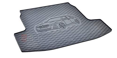 Passgenau Kofferraumwanne geeignet für BMW 3er Touring G21 ab 2019 ideal angepasst schwarz Kofferraummatte + Gurtschoner