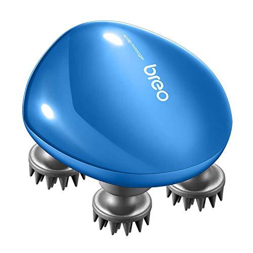 Breo Kopfmassagegerät, wiederaufladbar und wasserdicht, Kopfmassage zum Stressabbau und Haarpflege zu Hause, leicht tragbar für Reise ohne Holzsockel, Geschenke für Weihnachten - Scalp mini