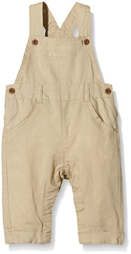 NAME IT Baby-Jungen NITHARALD NB SO LIN OVERALL 216 Latzhosen, Beige (Safari), 62