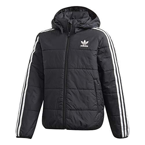 adidas Jungen Padded Jacke, Black/White, 176
