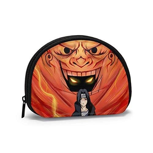 Anime Naruto Shell bolsa de almacenamiento para mujeres y niñas linda moda con cremallera monedero monedero monedero bolsa de cambio multifunción bolsa organizador