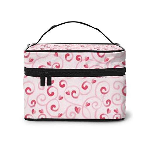 Leuke reis-cosmeticatas, roze voor Valentijnsdag met geïntegreerde tas, multifunctionele make-up tas