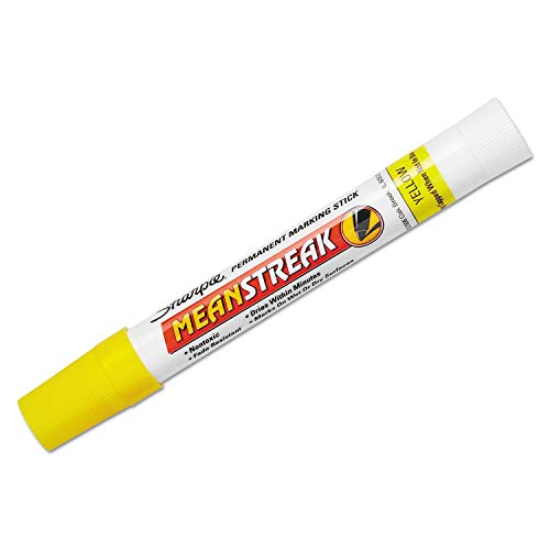 6 Pack Mean Streak Marking Stick, Broad Tip, Yellow by SANFORD INK (Catalog Category: Paper, Pens & Desk Supplies / Markers)