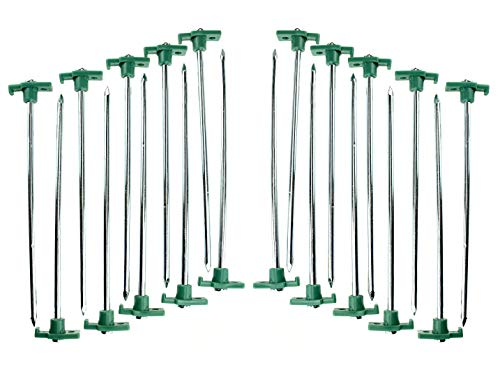 SE Heavy-Duty Metal Tent Pegs Stake Set (20-Pack) - 9NRC10-20