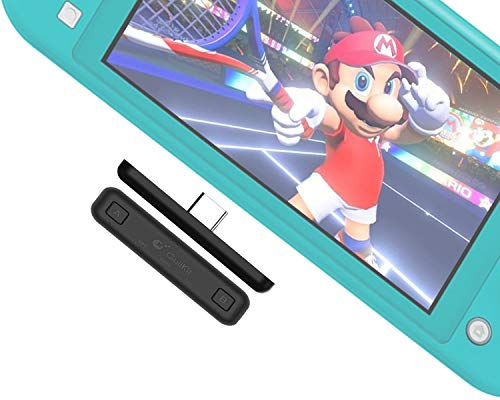 GULIkit Bluetooth Adapter für Nintendo Switch & Lite, PS4-PC-Laptops, Unterstützung für drahtlose Audiosender, APTX, niedrige Latenz für Airpods, Bluetooth-Kopfhörer, Lautsprecher (schwarz)
