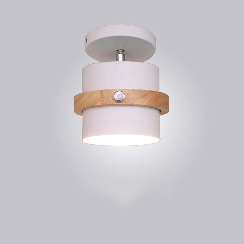 LED Deckenleuchte Modernes Macaron, einfache hlzerne Unterputz-Deckenleuchte, Acryl-Wandleuchte für Schlafzimmer-Wohnzimmer-Büro-Korridor, E27 (Farbe   C)