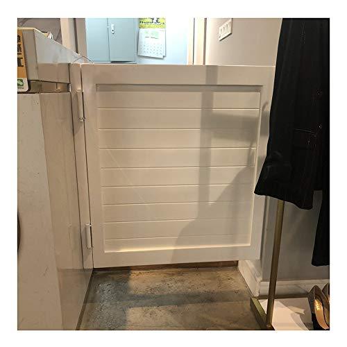 CAIJUN Swinging Doors Cafe Doors Retro Solid Wood Single Door Automatic Closure Partition Door for Bar Pub, 4 Colors, Custom Size (Color : A, Size : 90x60cm)
