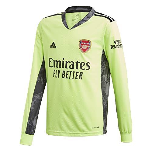 adidas Arsenal FC Stagione 2020/21 AFC A GK JSY YL Maglia da Portiere per Bambini, Bambino, Maglia da Portiere, seconda Partita, FH7810, Verde, Nero (versen), 176