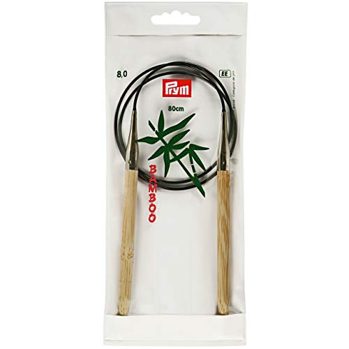Prym 80 Cm X 8 Mm Circular Knitting Pins, Bamboo