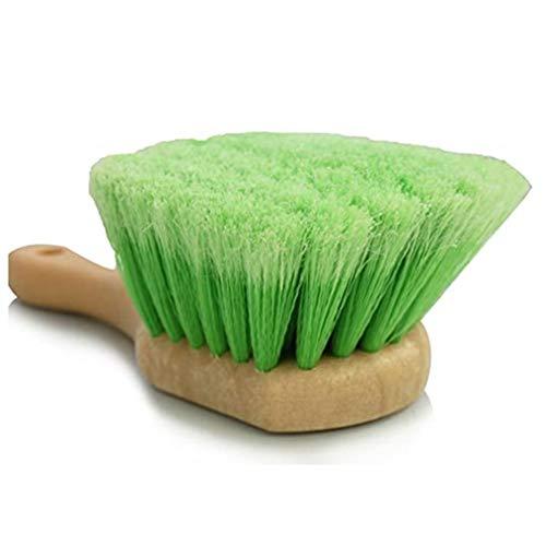 Kaxofang Cepillo de Limpieza de Ruedas de NeumáTicos de Piel de Manejar Corto EspecíFico para AutomóViles, Cepillo de Limpieza de Almohadillas para Alfombras, Cepillo Multifuncional