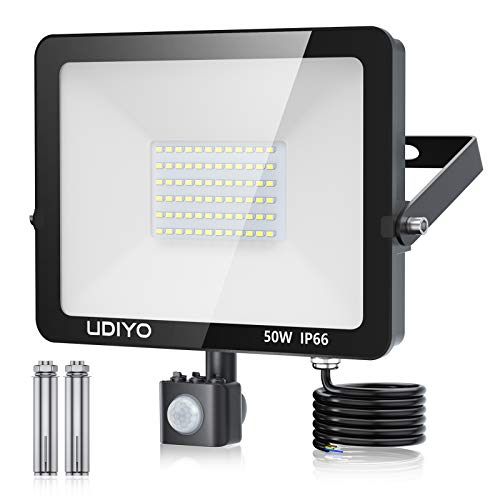 Outdoor Security Lights with Motion Sensor, 50W LED PIR Floodlights 5000...