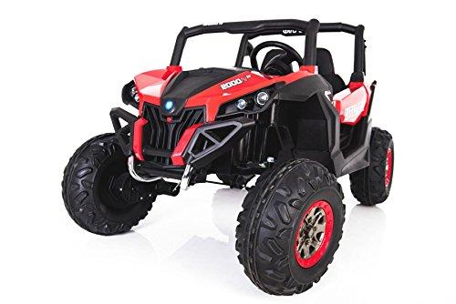 CARS12V Coche ELÉCTRICO para NIÑOS RSX Buggy 24V 2 PLAZAS RC (Rojo)