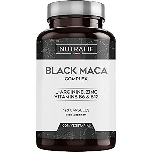 Maca Nera Peruviana Equivalente 24.000 Mg Dose 1.200 Mg L-arginina, Zinco e Vitamine 120...