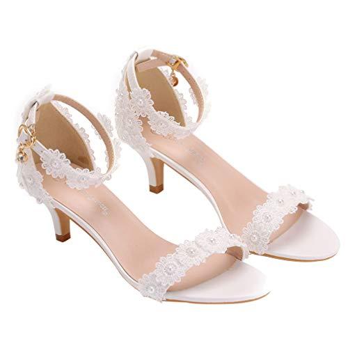 Holibanna 1 par de Sandalias de Aguja de Boda Elegantes Zapatos de...