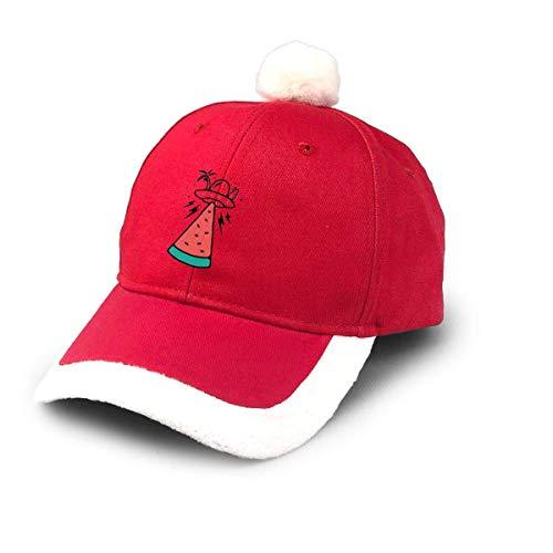 N/A Diseño de Gorra navideña de béisbol Unisex con invasión alienígena de Verano para Adultos y niños Ajustable
