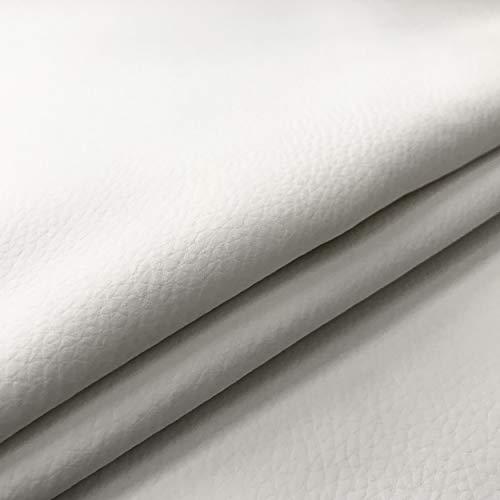 Panini Tessuti Tessuto Ecopelle Morbida Finta Pelle a METRAGGIO a Partire da 50 CM (Lunghezza) x 140 CM (Larghezza Fissa); 1 qtà=50cm; 2qtà=100cm - per arredo DIVANI, SEDIE (1/2 Metro, Bianco)