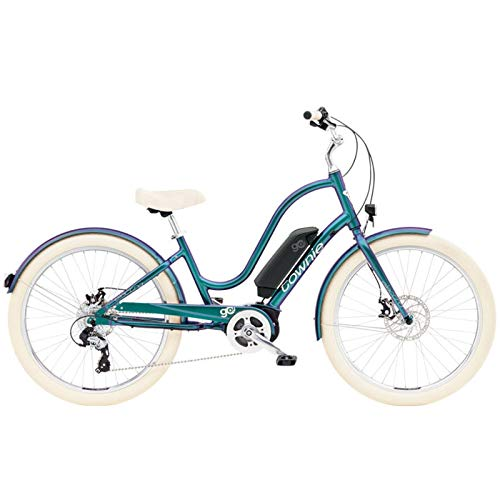 "ELECTRA Damen Fahrrad Townie GO! 8D E-Bike, 8 Gang, 26"", Aurora Metallic - Petrol, 5684Ladies"