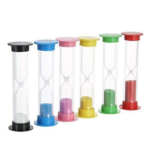 Decdeal Sablier Hour Glass Horloge de Sable Minuterie Enfant Jouet Horloge à Sablier pour Jeux Cuisine Exercice (Type 4)