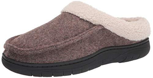Hanes Comfort Soft Memory Foam Indoor Outdoor Clog Slipper Shoe - Men's and Boy's Sizes, Brown, XX-Large