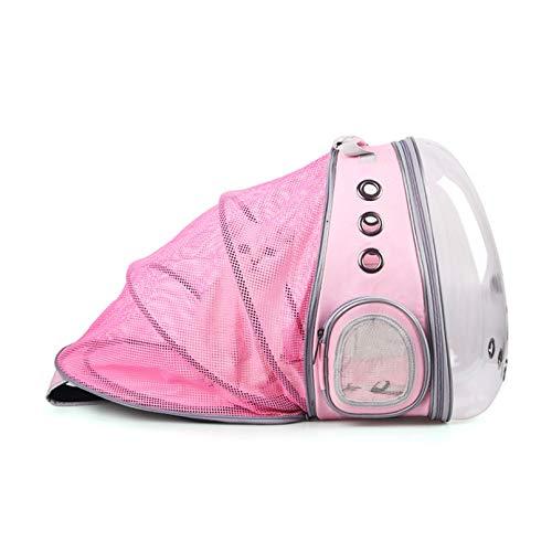 HWY Mochila para Mascotas Compresible Escalable Mochila Perro pequeño Ventilación y luz transmisiva Diseño ensanchado transportin Gato