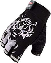 Black anti-slip gloves,Gym Training Sports semi finger gloves for body-building