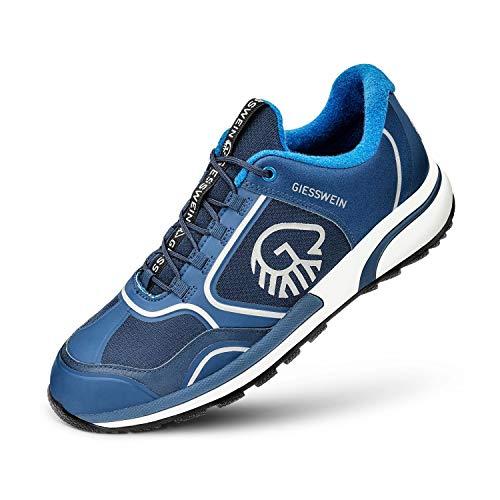 GIESSWEIN Sportschuh Wool Cross X Men - Rutschfester Merino Sneaker für Herren, Performance Schuhe mit 100% Merinowolle, Reflektierende Herrenschuhe, Micro-Grip Sohle